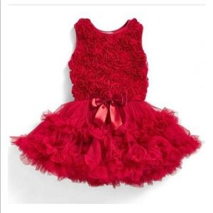 Like New Burgundy Poptu Tutu Dress 12-18M